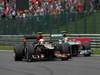 GP BELGIO, 25.08.2013-  Gara, Romain Grosjean (FRA) Lotus F1 Team E21 e Lewis Hamilton (GBR) Mercedes AMG F1 W04