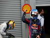 GP BELGIO, 25.08.2013-  Gara, terzo Lewis Hamilton (GBR) Mercedes AMG F1 W04 e Sebastian Vettel (GER) Red Bull Racing RB9 vincitore
