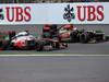 GP BELGIO, 25.08.2013-  Gara, Jenson Button (GBR) McLaren Mercedes MP4-28 e Romain Grosjean (FRA) Lotus F1 Team E21
