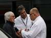 GP BELGIO, 24.08.2013- Free Practice 3, (L-D) Bernie Ecclestone (GBR), President e CEO of Formula One Management, Pasquale Lattuneddu (ITA), FOM e Pat Behar (FRA), FIA