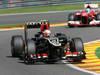 GP BELGIO, 23.08.2013- Free Practice 2, Romain Grosjean (FRA) Lotus F1 Team E21 davanti a Fernando Alonso (ESP) Ferrari F138