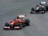 GP BRASILE, 24.11.2013 - Gara, Felipe Massa (BRA) Ferrari F138 davanti a Nico Hulkenberg (GER) Sauber F1 Team C32