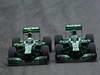 GP BRASILE, 24.11.2013 - Gara, Giedo Van der Garde (NED), Caterham F1 Team CT03 e Charles Pic (FRA) Caterham F1 Team CT03