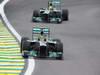 GP BRASILE, 24.11.2013 - Gara, Lewis Hamilton (GBR) Mercedes AMG F1 W04 davanti a Nico Rosberg (GER) Mercedes AMG F1 W04