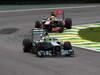 GP BRASILE, 24.11.2013 - Gara, Nico Rosberg (GER) Mercedes AMG F1 W04 davanti a Sergio Perez (MEX) McLaren MP4-28