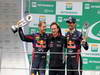 GP BRASILE, 24.11.2013 - Gara, Sebastian Vettel (GER) Red Bull Racing RB9, Christian Horner (GBR), Red Bull Racing, Sporting Director e Mark Webber (AUS) Red Bull Racing RB9