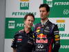 GP BRASILE, 24.11.2013 - Gara, Christian Horner (GBR), Red Bull Racing, Sporting Director e Mark Webber (AUS) Red Bull Racing RB9