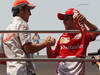 GP CINA, 14.04.2013- Sergio Perez (MEX) McLaren MP4-28 e Felipe Massa (BRA) Ferrari F138 at drivers parade