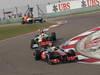 GP CINA, 14.04.2013- Gara, Sergio Perez (MEX) McLaren MP4-28 davanti a Paul di Resta (GBR) Sahara Force India F1 Team VJM06