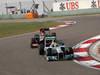 GP CINA, 14.04.2013- Gara, Lewis Hamilton (GBR) Mercedes AMG F1 W04 davanti a Kimi Raikkonen (FIN) Lotus F1 Team E21