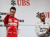 GP CINA, 14.04.2013- Gara, Fernando Alonso (ESP) Ferrari F138 vincitore e terzo Lewis Hamilton (GBR) Mercedes AMG F1 W04