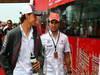 GP COREA, 06.10.2013- Driver parade, Esteban Gutierrez (MEX), Sauber F1 Team C32 e Sergio Perez (MEX) McLaren MP4-28