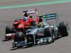 GP GERMANIA, 07.07.2013-  Gara, Fernando Alonso (ESP) Ferrari F138 e Lewis Hamilton (GBR) Mercedes AMG F1 W04