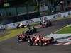 GP GIAPPONE, 13.10.2013- Gara, Felipe Massa (BRA) Ferrari F138 davanti a Fernando Alonso (ESP) Ferrari F138