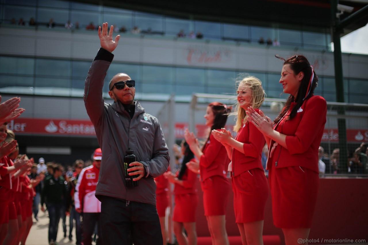 GP GRAN BRETAGNA, 30.06.2013- Lewis Hamilton (GBR) Mercedes AMG F1 W04
