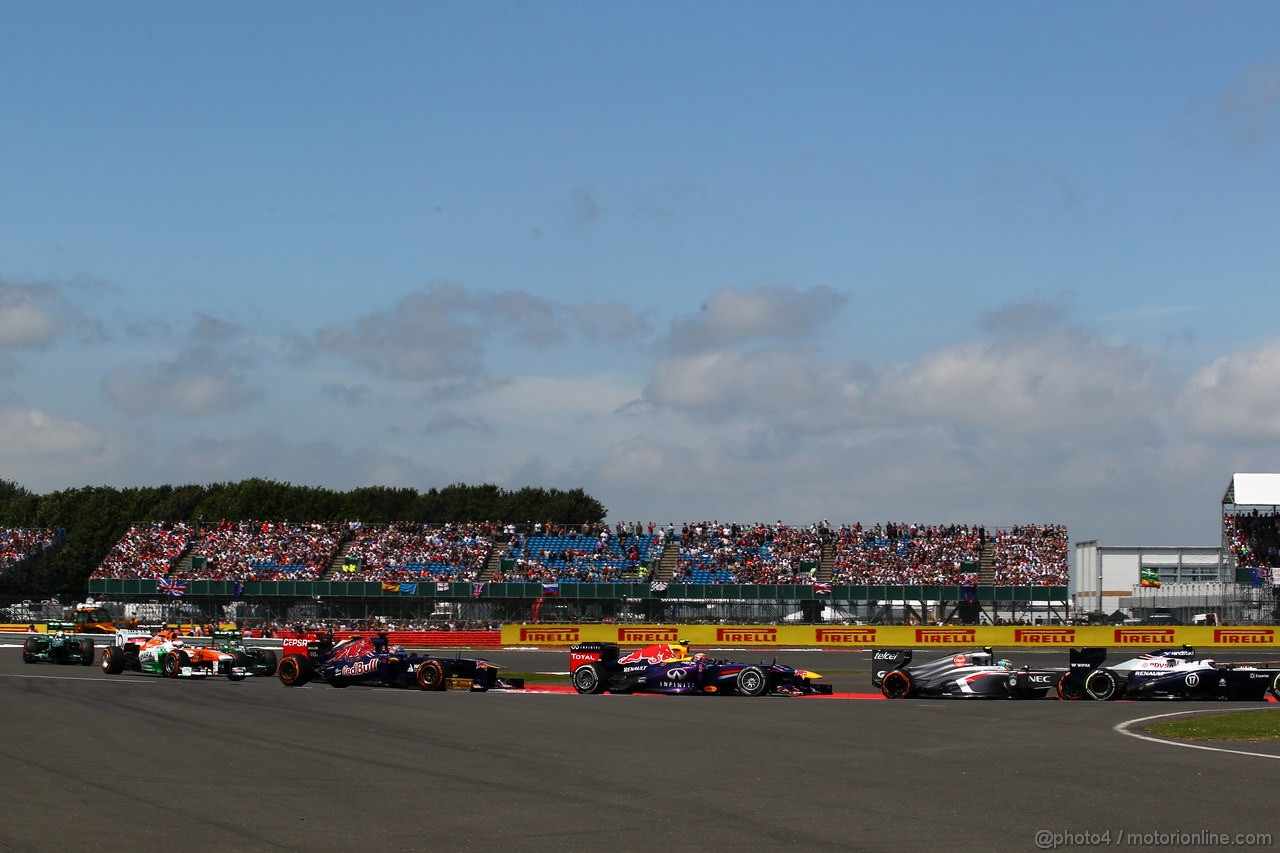GP GRAN BRETAGNA, 30.06.2013- Gara: Mark Webber (AUS) Red Bull Racing RB9
