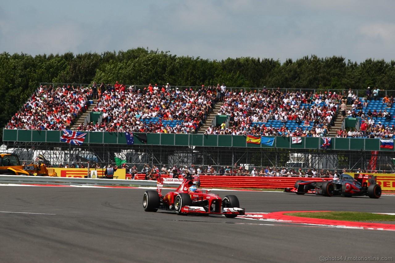 GP GRAN BRETAGNA, 30.06.2013- Gara: Fernando Alonso (ESP) Ferrari F138