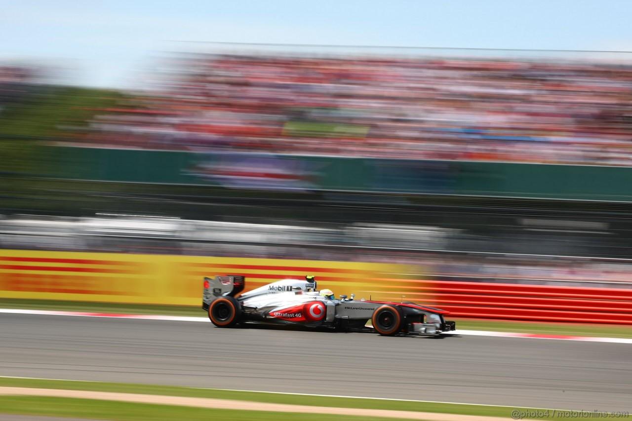 GP GRAN BRETAGNA, 30.06.2013- Gara: Sergio Perez (MEX) McLaren MP4-28