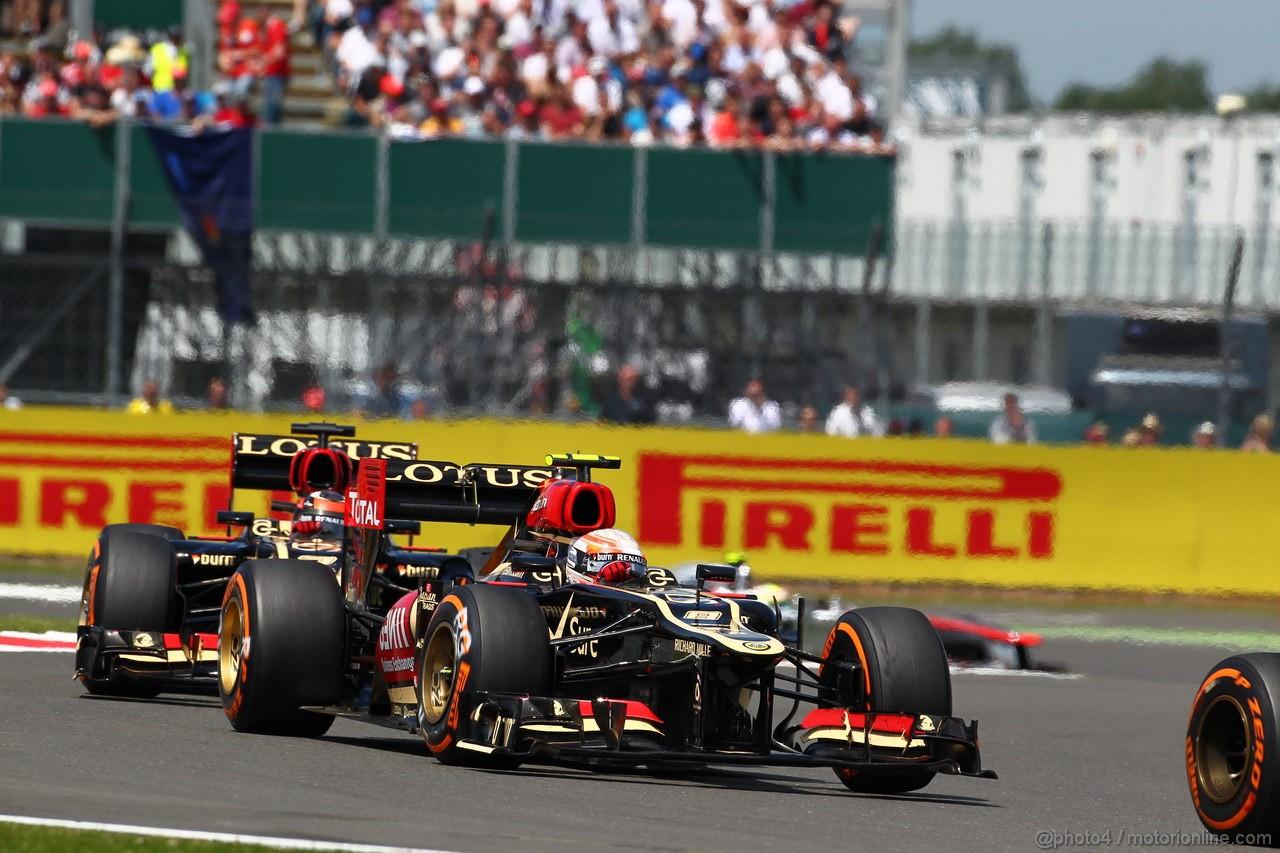 GP GRAN BRETAGNA, 30.06.2013- Gara: Romain Grosjean (FRA) Lotus F1 Team E213