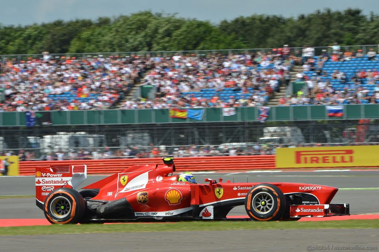 GP GRAN BRETAGNA, 30.06.2013- race, Felipe Massa (BRA) Ferrari F138
