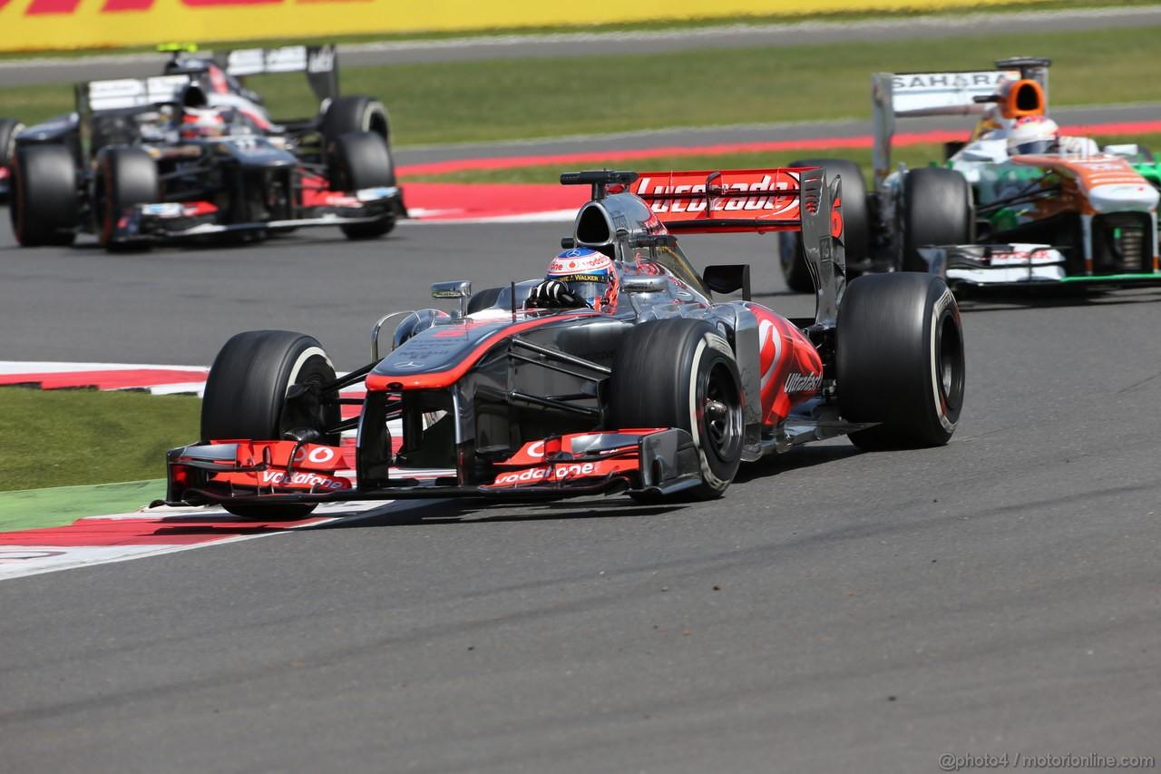 GP GRAN BRETAGNA, 30.06.2013- race, Jenson Button (GBR) McLaren Mercedes MP4-28