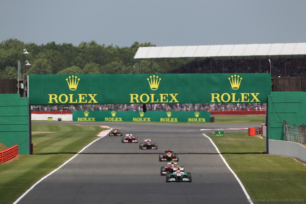 GP GRAN BRETAGNA, 30.06.2013- Gara, Adrian Sutil (GER), Sahara Force India F1 Team VJM06