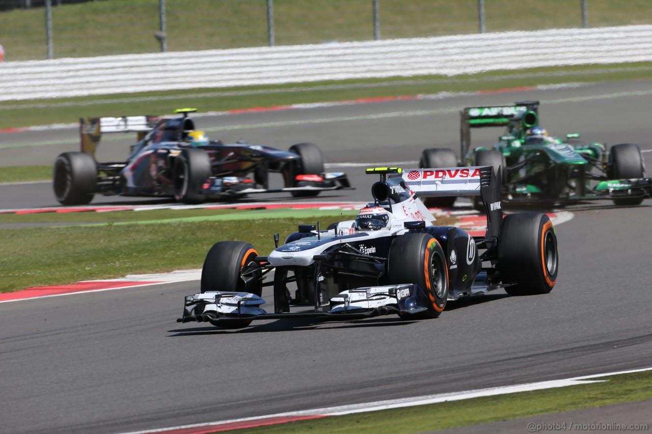 GP GRAN BRETAGNA, 30.06.2013- Gara, Valtteri Bottas (FIN), Williams F1 Team FW35