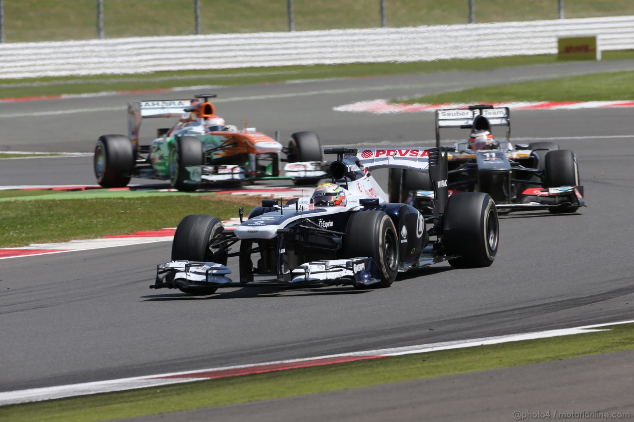 GP GRAN BRETAGNA, 30.06.2013- Gara, Pastor Maldonado (VEN) Williams F1 Team FW35