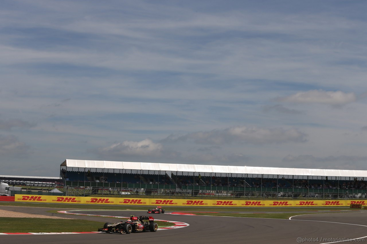 GP GRAN BRETAGNA, 30.06.2013- Gara,  Romain Grosjean (FRA) Lotus F1 Team E213