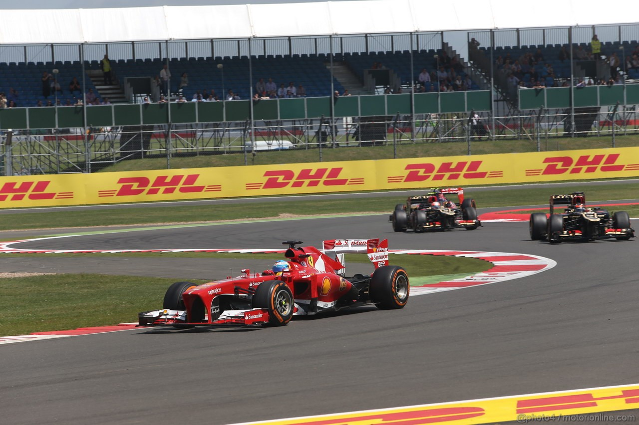 GP GRAN BRETAGNA, 30.06.2013- Gara, Fernando Alonso (ESP) Ferrari F138