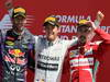 GP GRAN BRETAGNA, 30.06.2013- Podium: winner Nico Rosberg (GER) Mercedes AMG F1 W04, 2nd Mark Webber (AUS) Red Bull Racing RB9, 3rd Fernando Alonso (ESP) Ferrari F138