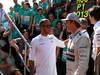 GP GRAN BRETAGNA, 30.06.2013- Gara, Lewis Hamilton (GBR) Mercedes AMG F1 W04 e Nico Rosberg (GER) Mercedes AMG F1 W04