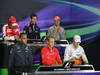 GP GRAN BRETAGNA, 27.06.2013- Giovedi' Press Conference: Fernando Alonso (ESP) Ferrari F138, Mark Webber (AUS) Red Bull Racing RB9, Jenson Button (GBR) McLaren Mercedes MP4-28, Lewis Hamilton (GBR) Mercedes AMG F1 W04, Max Chilton (GBR), Marussia F1 Team MR02 e Paul di Resta (GBR) Sahara Force India F1 Team VJM06