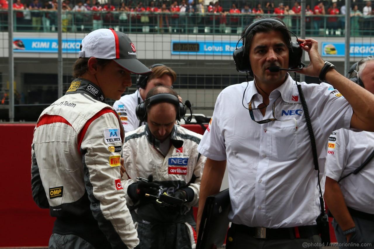 GP INDIA, 27.10.2013- Gara: Esteban Gutierrez (MEX), Sauber F1 Team C32