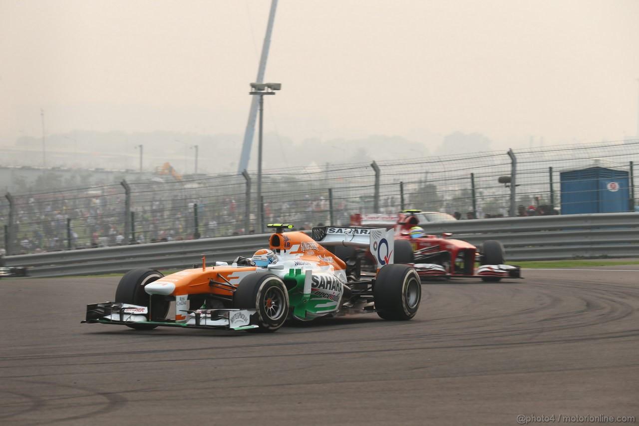GP INDIA, 27.10.2013- Gara: Adrian Sutil (GER), Sahara Force India F1 Team VJM06