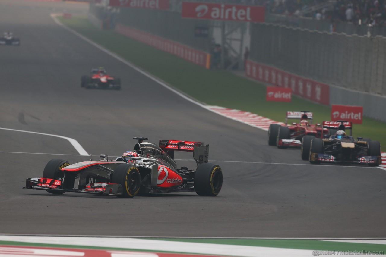 GP INDIA, 27.10.2013- Gara: Jenson Button (GBR) McLaren Mercedes MP4-28