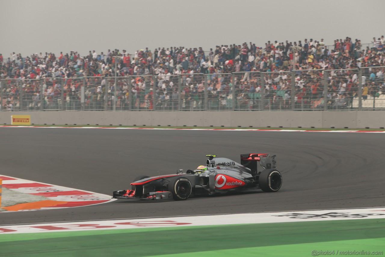 GP INDIA, 27.10.2013- Gara: Sergio Perez (MEX) McLaren MP4-28