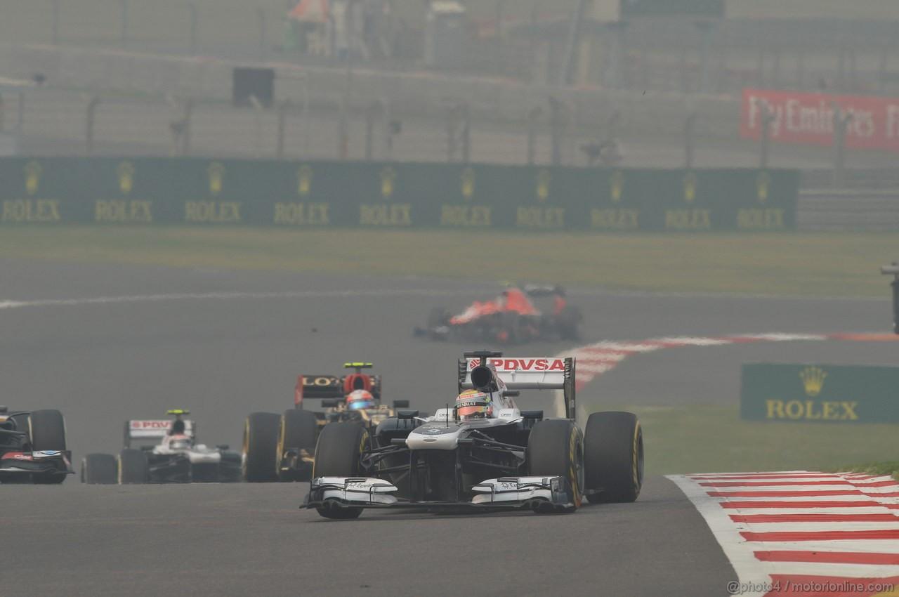GP INDIA, 27.10.2013- Gara: Pastor Maldonado (VEN) Williams F1 Team FW35
