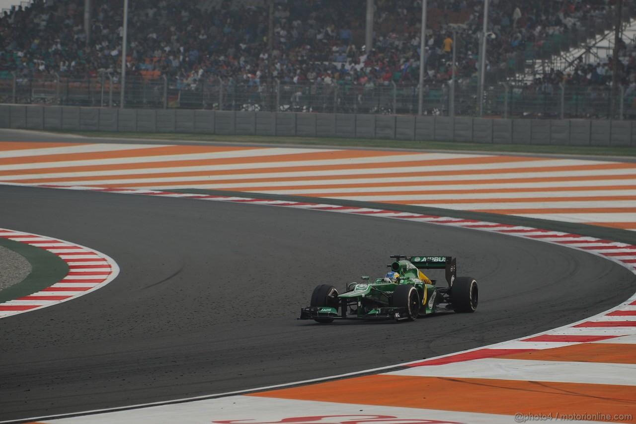 GP INDIA, 27.10.2013- Gara: Charles Pic (FRA) Caterham F1 Team CT03
