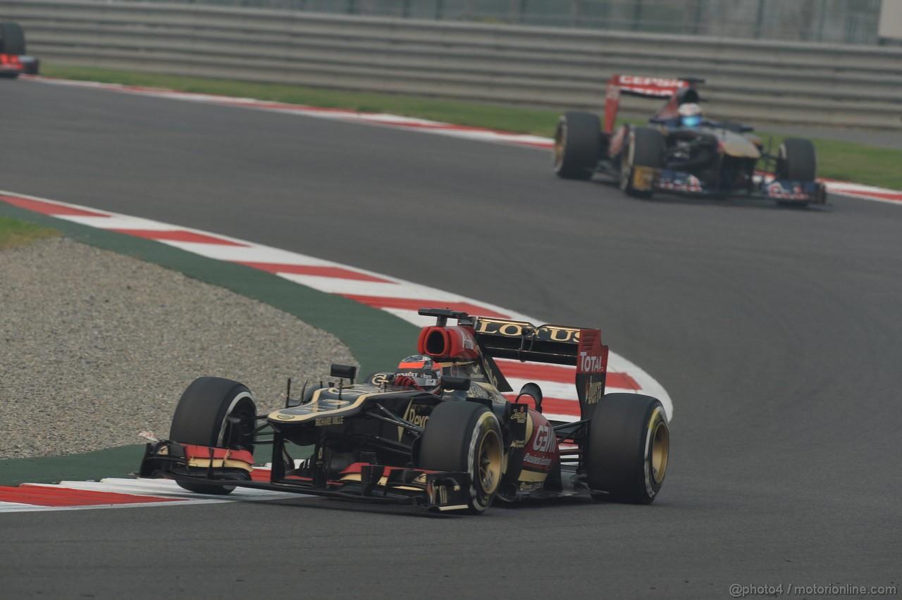 GP INDIA, 27.10.2013- Gara: Kimi Raikkonen (FIN) Lotus F1 Team E21