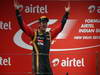 GP INDIA, 27.10.2013- Podium: Romain Grosjean (FRA) Lotus F1 Team E21 (terzo)