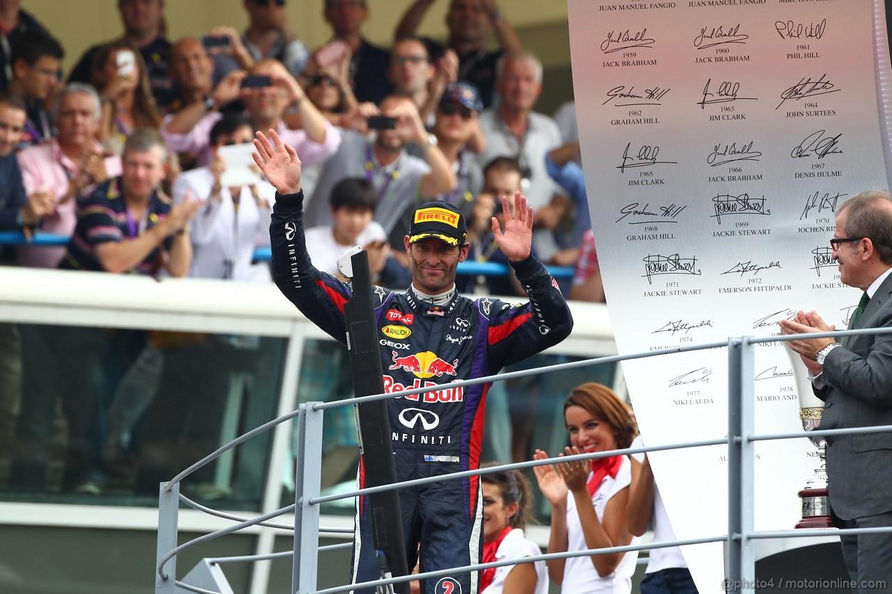 GP ITALIA, 08.09.2013- The Podium, 3d Mark Webber (AUS) Red Bull Racing RB9