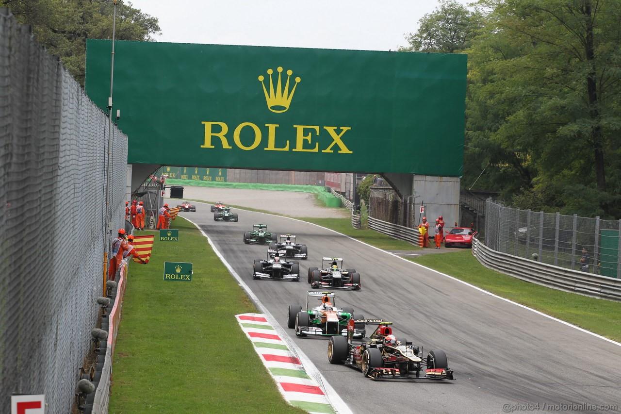 GP ITALIA, 08.09.2013- Gara, Romain Grosjean (FRA) Lotus F1 Team E213