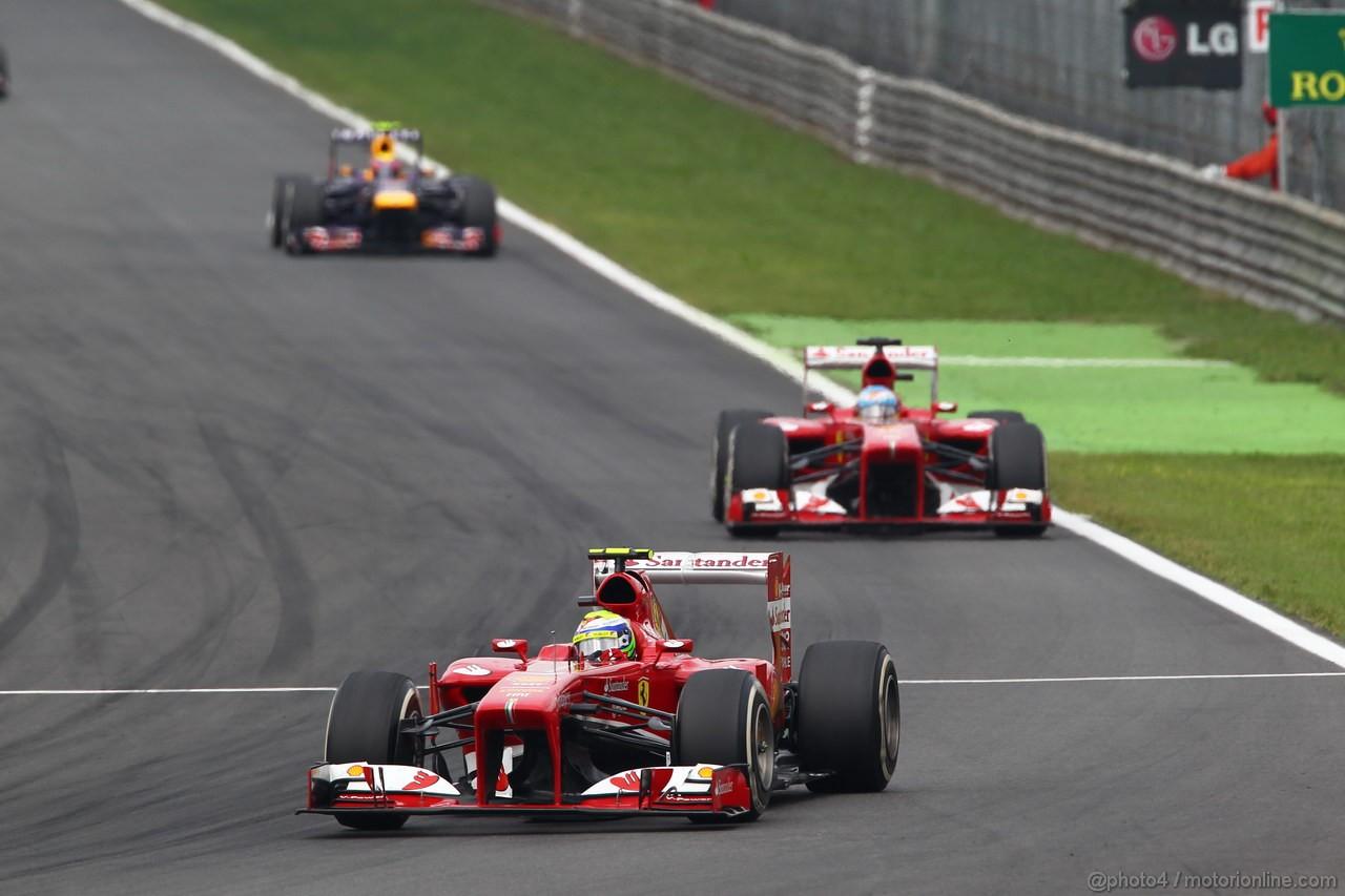 GP ITALIA, 08.09.2013- Gara, Felipe Massa (BRA) Ferrari F138