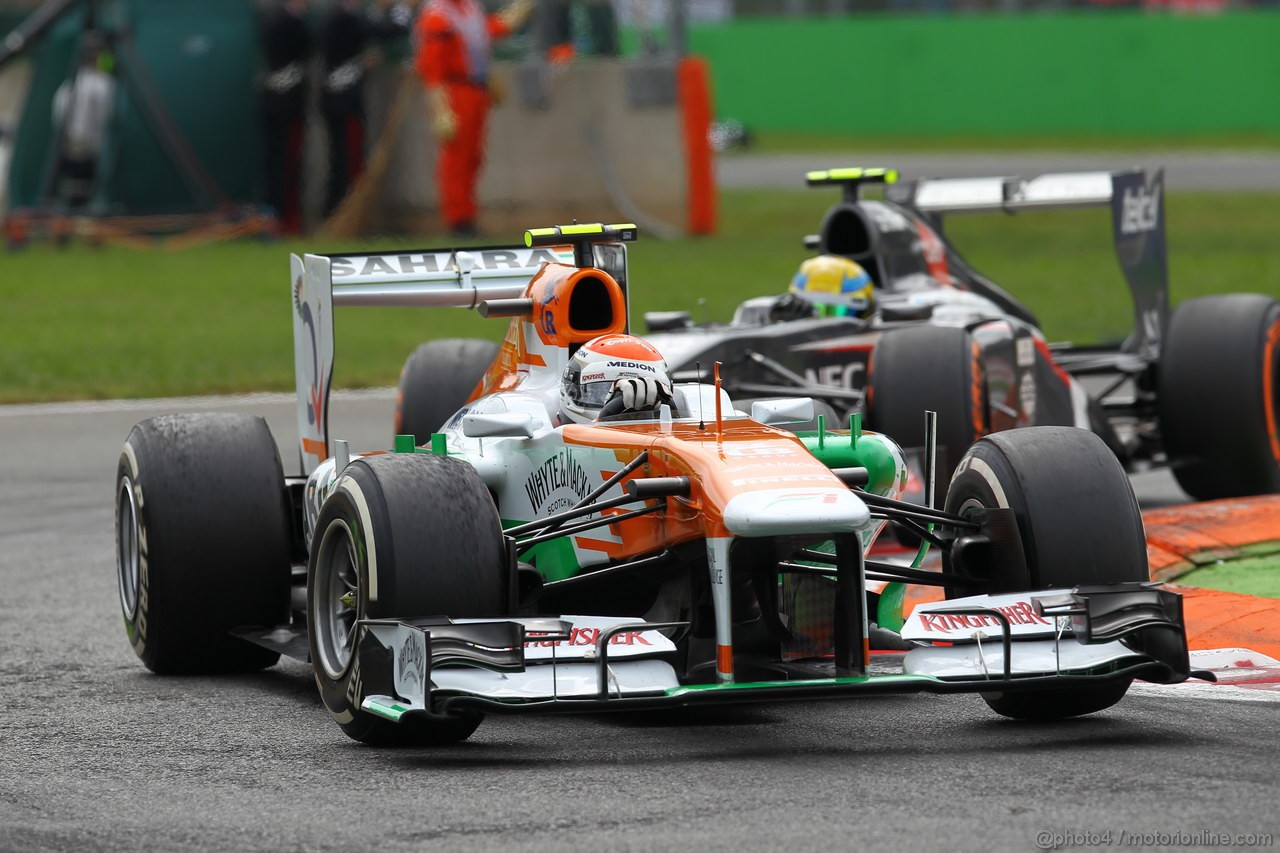 GP ITALIA, 08.09.2013- Gara, Adrian Sutil (GER), Sahara Force India F1 Team VJM06