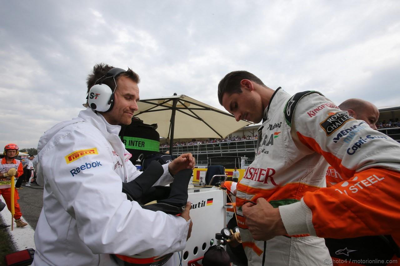 GP ITALIA, 08.09.2013- Gara, Adrian Sutil (GER), Sahara Force India F1 Team VJM06