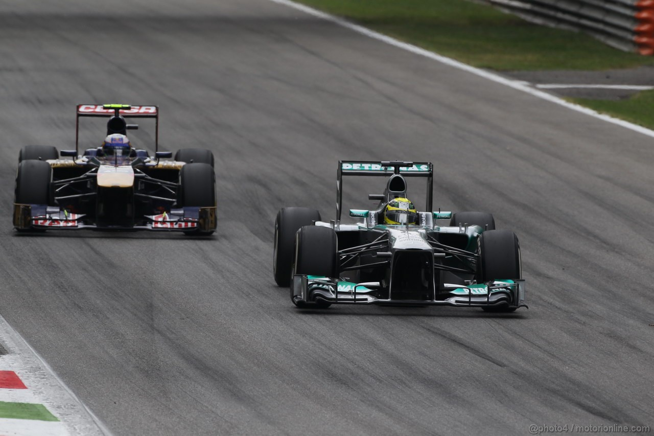 GP ITALIA, 08.09.2013- Gara, Nico Rosberg (GER) Mercedes AMG F1 W04