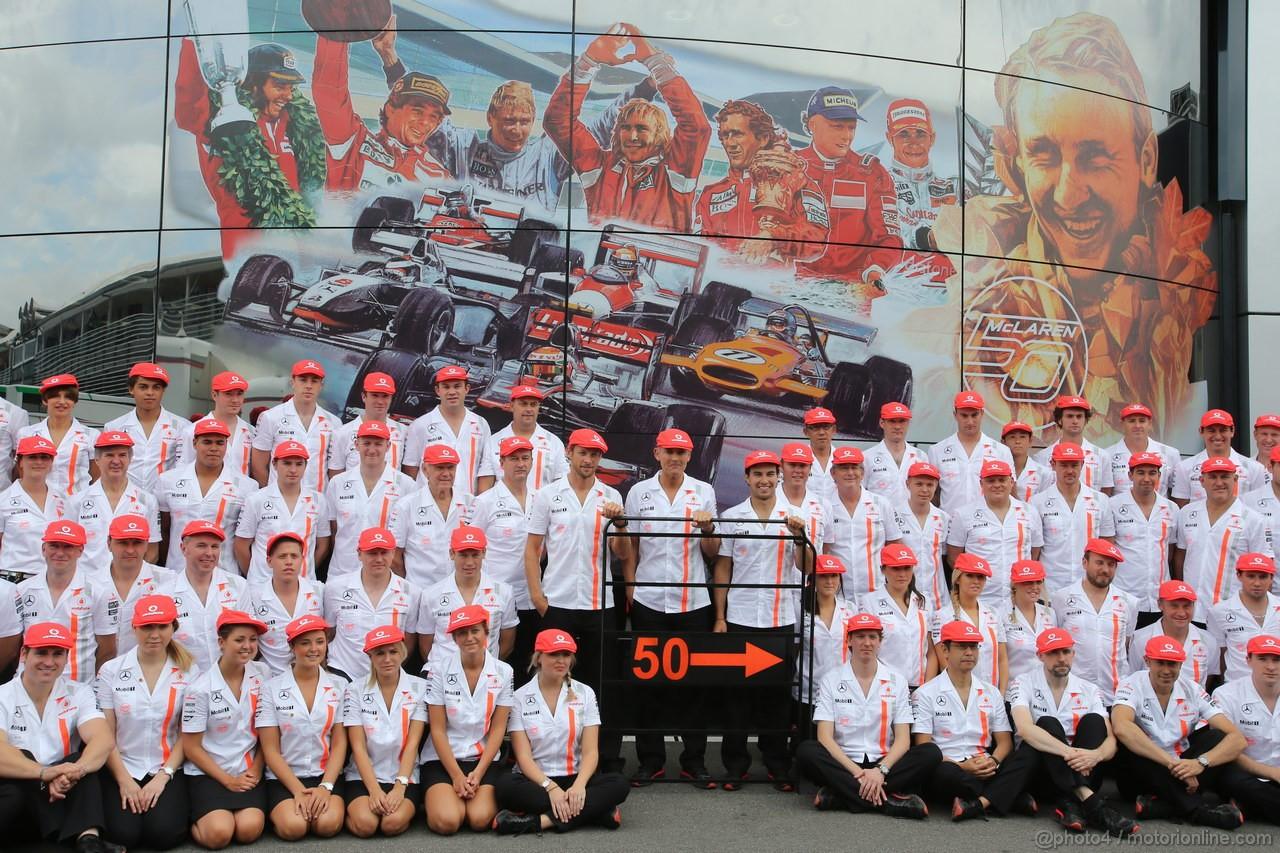 GP ITALIA, 08.09.2013- McLaren 50th birthdaty celebration