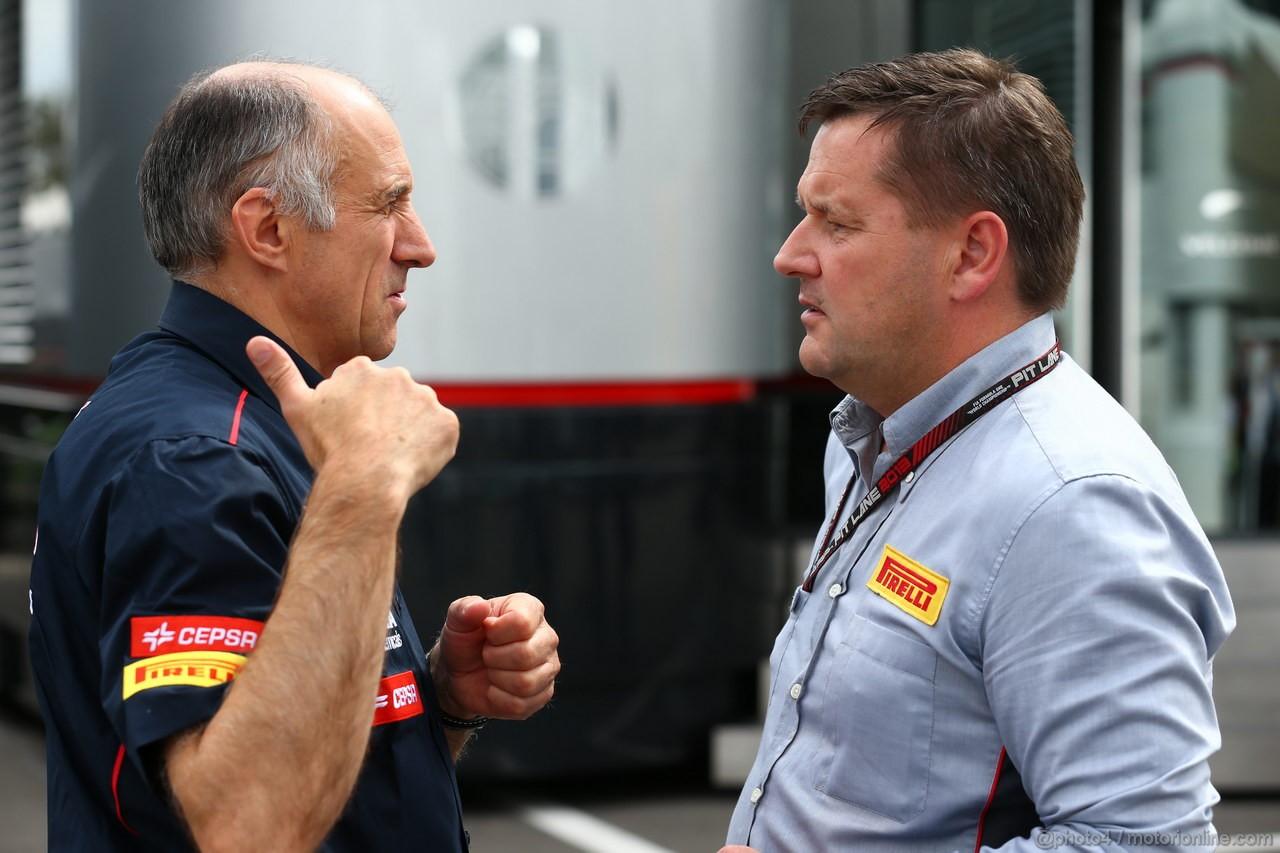 GP ITALIA, 08.09.2013-  Franz Tost, Scuderia Toro Rosso, Team Principal with Paul Hembery (GBR) Pirelli Motorspor Director