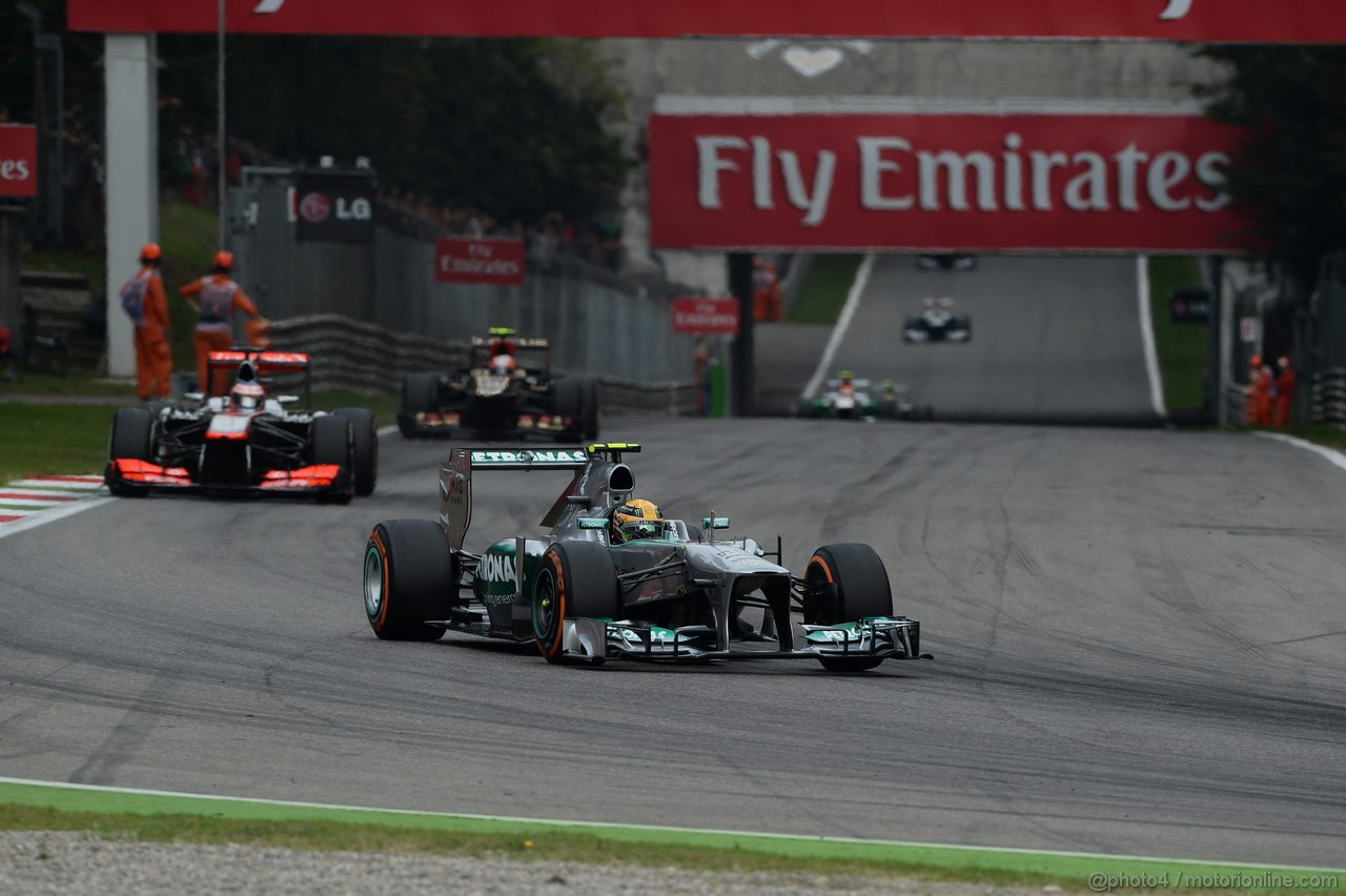 GP ITALIA, 08.09.2013- Gara, Lewis Hamilton (GBR) Mercedes AMG F1 W04